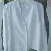 Eileen Fisher Women's Top Blazer Jacket Size Xl 100% Linen Pre-Owned Photo