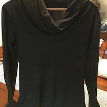 Eileen Fisher Xs Sweater Cowl Neck Charcoal Gray Long Sleeve 100% Merino Wool Photo
