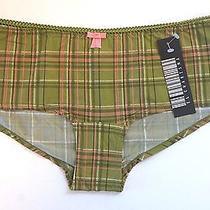 El Charisma Green Plaid Print Women's Boyshorts Panties Size Xl  Photo