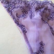 El Charisma Medium Lavender G String Thong Floral Nwt Photo