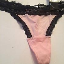El Charisma Xxl G String Thong Black and Pink Nwt Photo