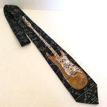 Electric Guitar Tie Gold & Black Neck Tie Steven Harris 100% Polyester Photo