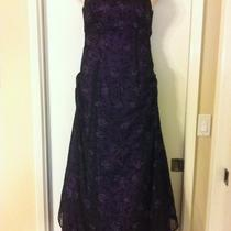 Elegant and Stunning Deep Purple Morgan and Co. Fancy Formal Prom Dress 11/12 Photo