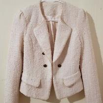 Elegant Blush Cream Women's Tweed Blazer Size Small Very Good Condition Photo