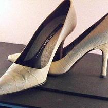 Elegant & Sexy via Spiga (Italy) Bone Ivory Crocodile High Heel Pumps  6.5b Photo