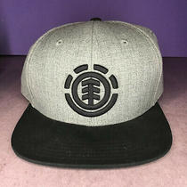 Element Black and Gray Snapback Hat Cap the Official Element Headwear Rn99064 Photo