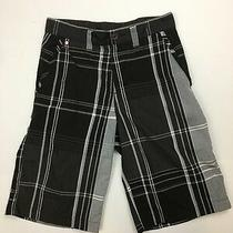 Element Black Gray White Plaid Slim Size 27 Summer Excellent Used Condition Photo