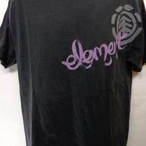 Element Black Mens S/s Graphic Logo Surf Skate T Tee Shirt Sz Large L Photo