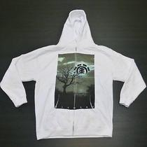 Element Boys Size Xl White Zipper Hoodie Sweatshirt New Photo