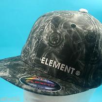 Element Boys Youth Cap Surf Flexfit Skate Beach Hat Grey New Photo