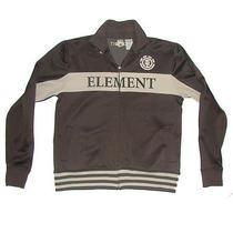 Element Brown Zip Front Retro Warm Up Track Suit Jacket Photo
