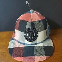 Element Crowns Logo Red Plaid Flexfit Baseball Cap Hat  Hologram Osfa S-M Photo