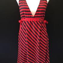 Element Dress Size M Red Blue Striped Sundress Cute and Flattering Photo
