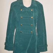 Element Eden Original Size 12 Teal Green Double Breasted Military Style Jacket Photo