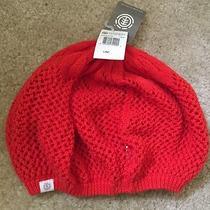Element Eden Red Pop Cotton Knit Beanie Photo