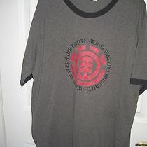 Element Fire Earth Wind Water T - Shirt Gray Size L Photo