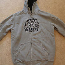 Element  Fleece Lined Hooded Zip Up Sweatshirt - Gray  Size Large   Photo
