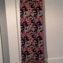 Element Garland Semi Sheer Maxi Long Dress Size Medium Floral Print Photo