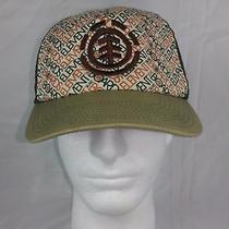 Element Hat Snapback Skateboard Cap Mesh Tan & Brown Osfa Cotton Usa Photo