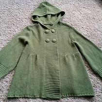 Element Hooded Cardigan Sweater Size Small S - Green/cute Photo