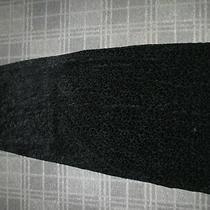Element-Ladies Vintage Skirt Size 8-10-12 Maxi a-Line Flare Stretch Gothic Black Photo
