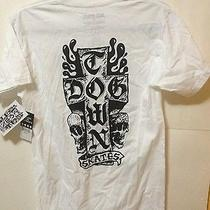 Element Men's Graphic Tee Dog Town White Sz S 100% Cotton Short Sleeve New   Photo