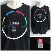 Element Men's L/s Black Wind Water Earth Fire Graphic Crewneck Shirt - Size Xl Photo