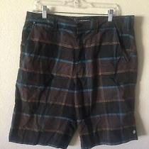 Element Men's Shorts Size 32 Brown Tonings Check Photo
