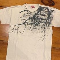 Element Men's T Shirt Small Tan W/ Graphic Design Cotton  Photo