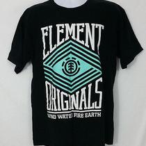 Element Mens Black Graphic Logo T-Shirt Casual Fun Work Size Large Photo