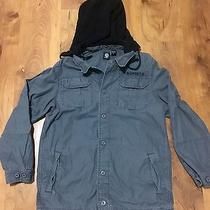 Element Mens Gray Jacket Coat Size Xl Black Hooded Euc Photo