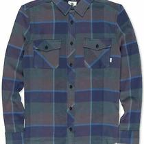 Element Mens Shirt Blue Size Small S Button Up Plaid Print Flex Pockets 60 041 Photo