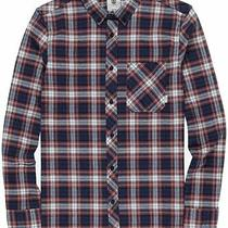 Element Mens Shirt Red Blue Size Small S Button Down Plaid Printed 60 085 Photo