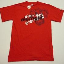 Element Mens Size Small Red Graphic T-Shirt New Photo
