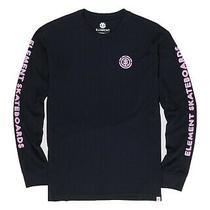 Element Mens T-Shirt Black Size 2xl Authentic Fit Ls Graphic Tee 35 105 Photo