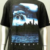 Element Mens Xl Black Comfort Crew Neck T-Shirt Tee Short Sleeve Graphic yne.1 Photo