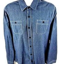Element Mens Xl Button Front Long Sleeve Gray Shirt  Photo