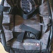 Element Mohave Skateboard Strap Laptop Brown Bl White Tartan Backpack Book Bag Photo