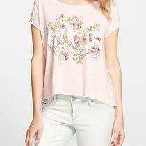 Element New Pink Womens Large L Live Floral Print Graphic Tee T-Shirt Deal 387 Photo