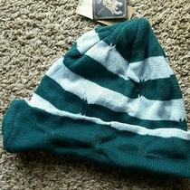 Element New Womens Green Turquoise Striped Ski Snowboard Beanie Hat Cap Cute Photo