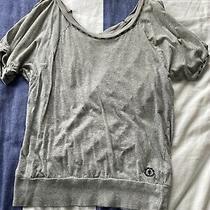 Element Off Shoulder Cotton Top Size 8 Grey Photo