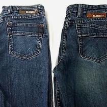 Element Pulaski Slim  Parker Straight Fit Jeans Skate 2 Pair  26 X 27 Photo