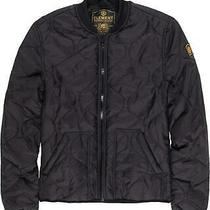 Element -Quilted Bomber Jacket With Rib Collar and Cuffs. Front Patch Pockets L Photo