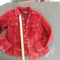 Element Red Suede Pearl Snap Shirt Photo