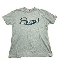 Element Script Logo T Shirt Cotton Gray Heather Tee Size M Medium Adult Loose Photo