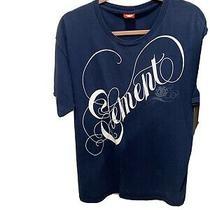 Element Script Spell Logo Navy T-Shirt Size L Photo