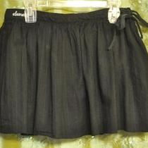 Element Skate Co - Girls (Juniors) Sz S - Black Cotton 3 Layer Mini Twirl Skirt Photo