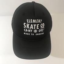Element Skate Co Snapback Trucker Hat Black White Photo