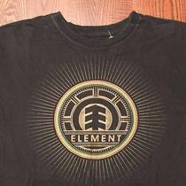 Element Skate Surf Skating Surfing Arrow Logo Design Large Black T-Shirt Photo