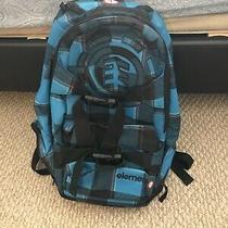 Element Skateboard Backpack W/ Skateboard Straps Blue Plaid Rare New No Tags Photo